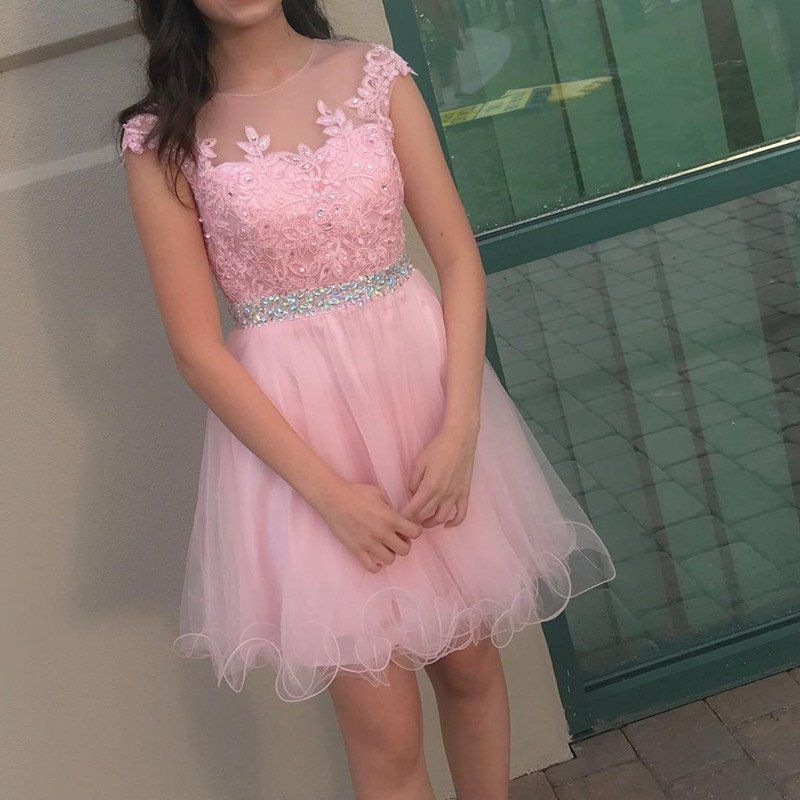 Cute Prom Dress,Charming Prom Dresses,Tulle Pink Prom Gown,Elegant ...
