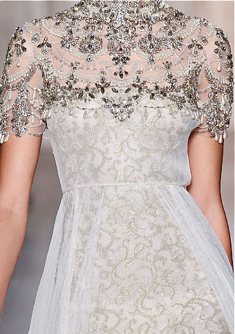 White dress with silver adornings for a princess of the North, before Aegon's Conquest; Marchesa