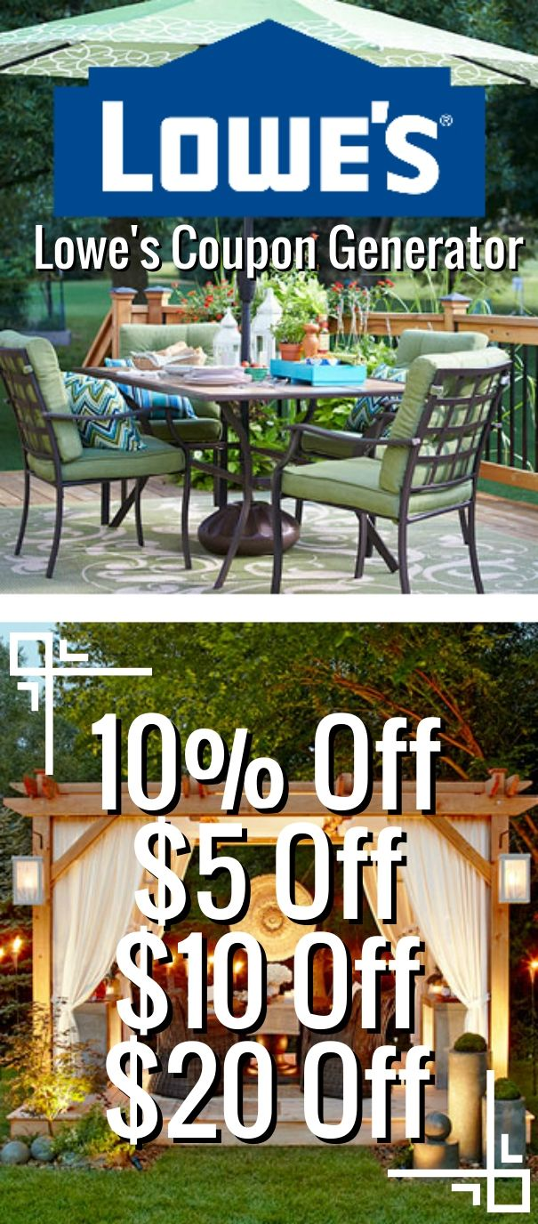 Lowe's Coupon Generator (Valid In Stores & Online) 10