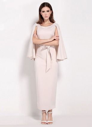 Polyester Lange Ärmel Maxi Sexy Kleider (1016391) @ floryday.com ...