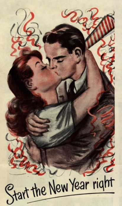 happy new year kiss
