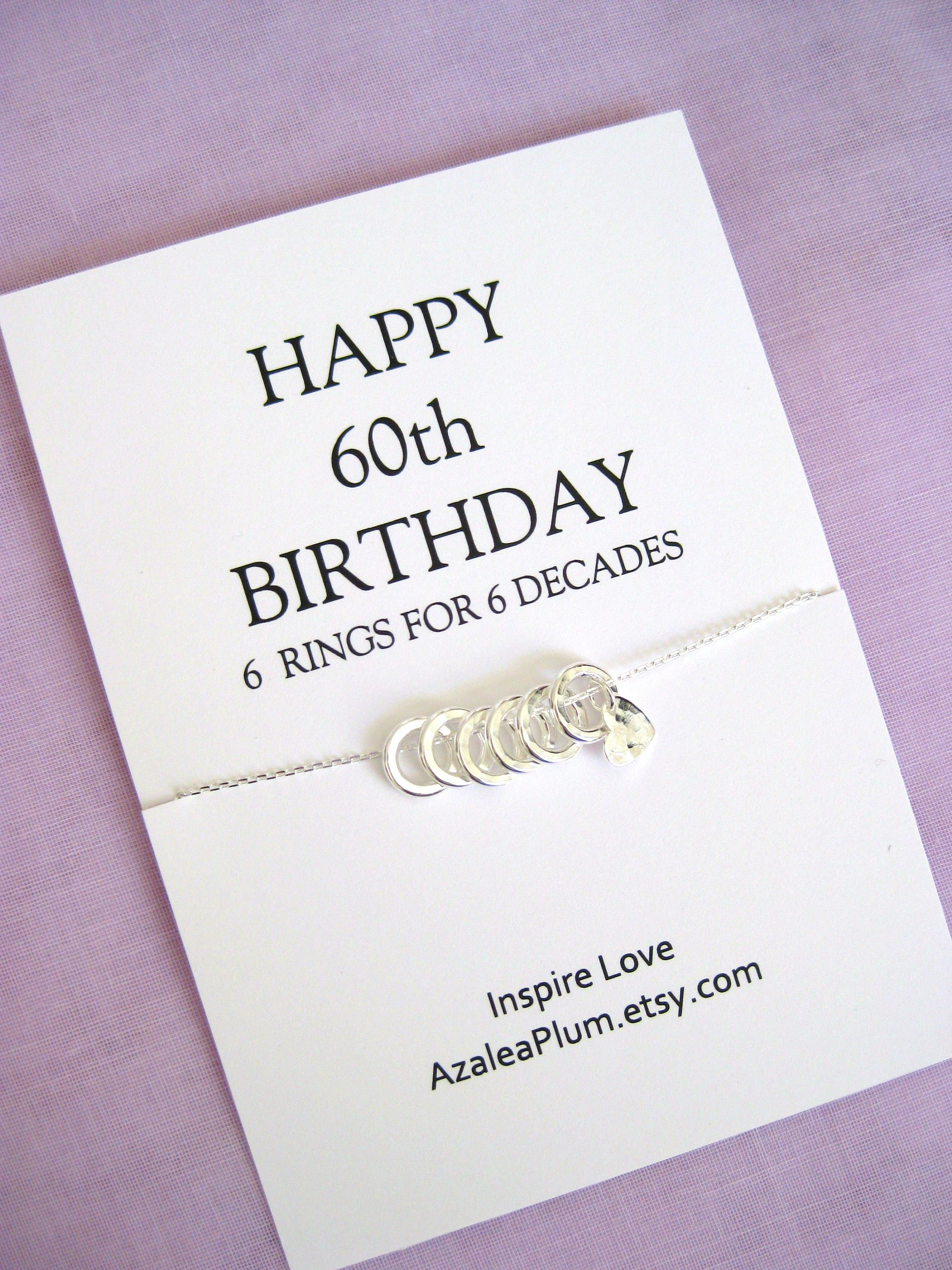 60th birthday gifts for women necklace 60th birthday