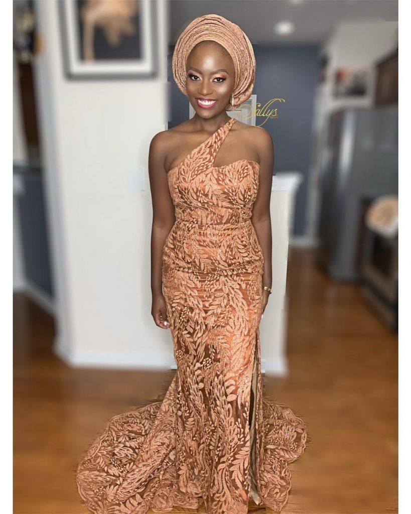Wanna Be a Trendsetter- Checkout These Eye-popping Aso-Ebi Styles #nigeriandressstyles