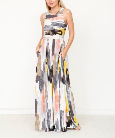 e41bfb873fc This Charcaol  amp  Mustard Paint Pocket Maxi Dress - Women  amp  Plus is  perfect