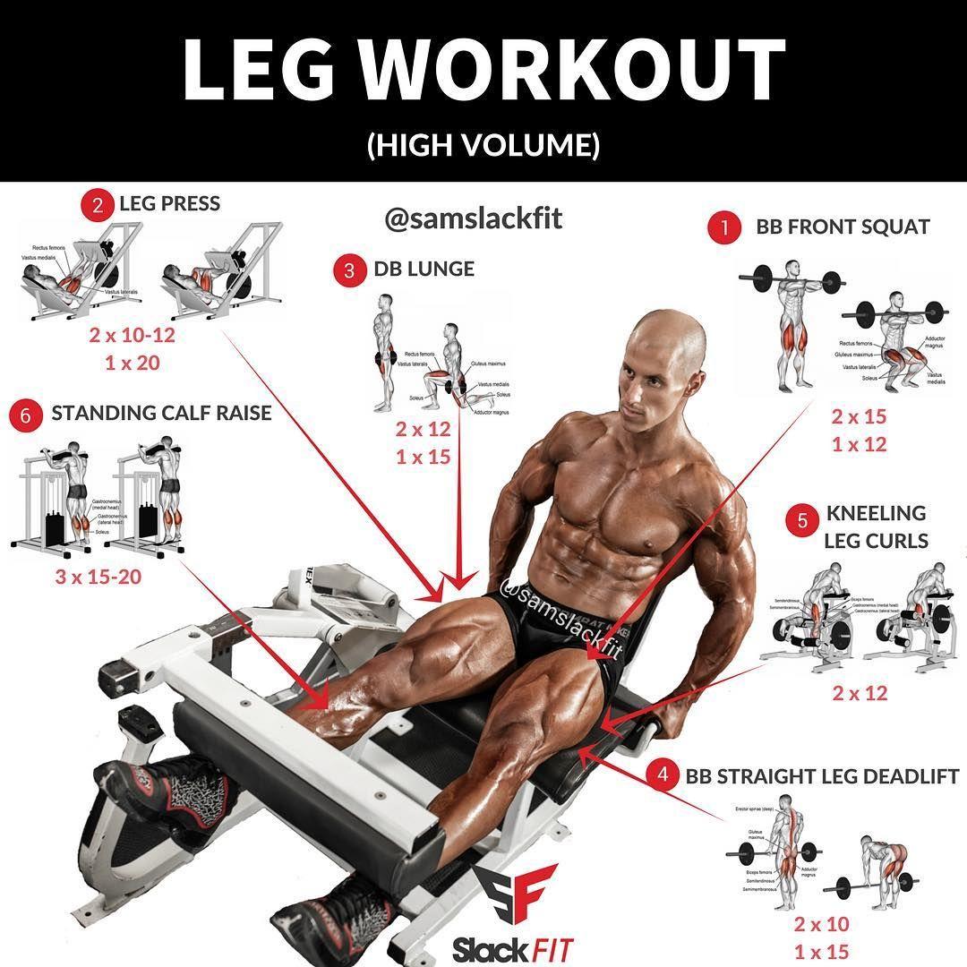 High Volume Leg Workout Leg Workout Gym Workouts Workout Plan Gym