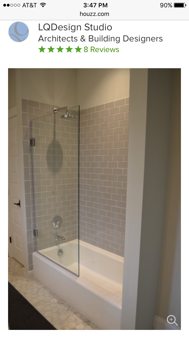 Low profile tub with glass shower wall | Bathroom shower | Pinterest ...