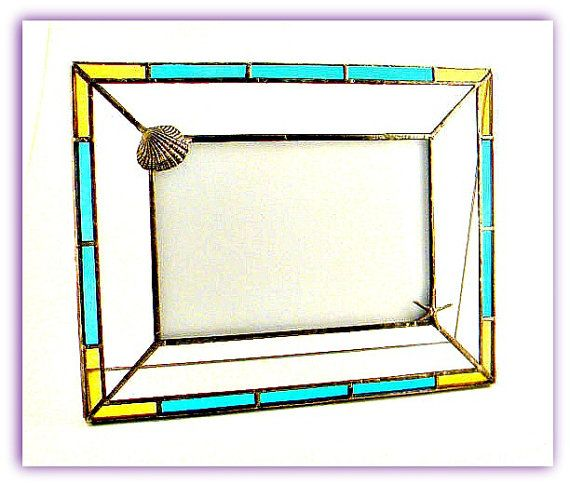 Beach Themed Stained Glass 4 x 6\