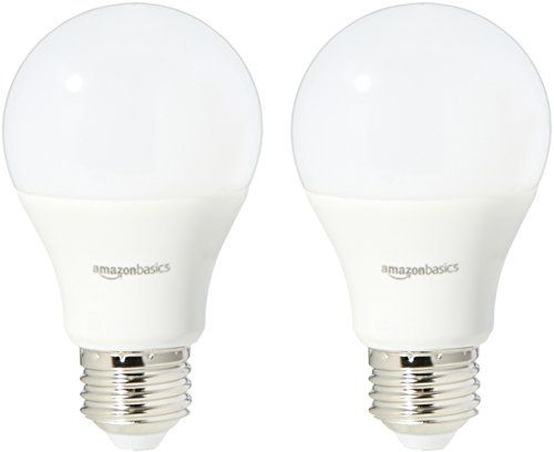 Amazonbasics 60 Watt Equivalent Daylight Dimmable A19 Led Light Bulb 2 Pack Led Light Bulb Light Bulb Led Lights