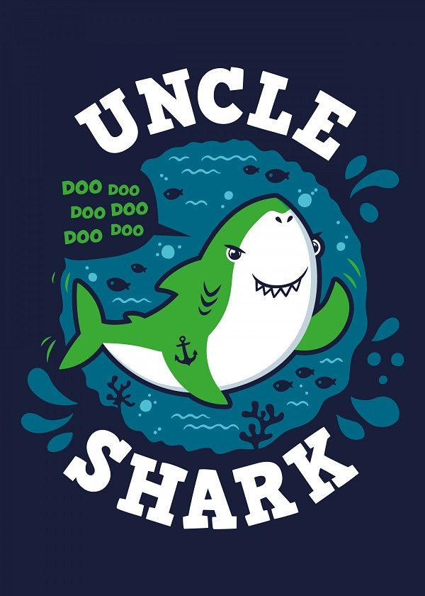 "Baby Shark Family Uncle Shark #Displate explore Pinterest""> #Displate artwork by artist ""Olipop Art… | Displate thumbnail"