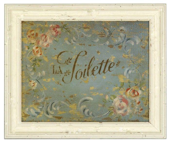 La Toilette Framed Bathroom Print French Country Powder Room