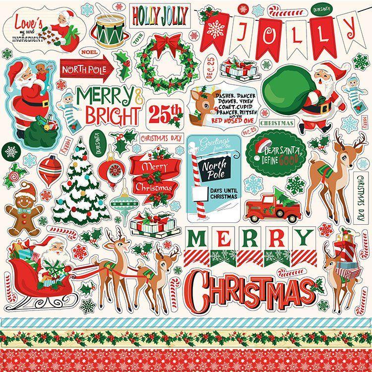 Carta Bella Paper Santa S Workshop Collection Christmas 12 X