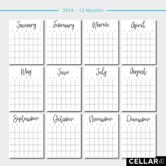 Calendar Printable Calendar Monthly Planner Monthly