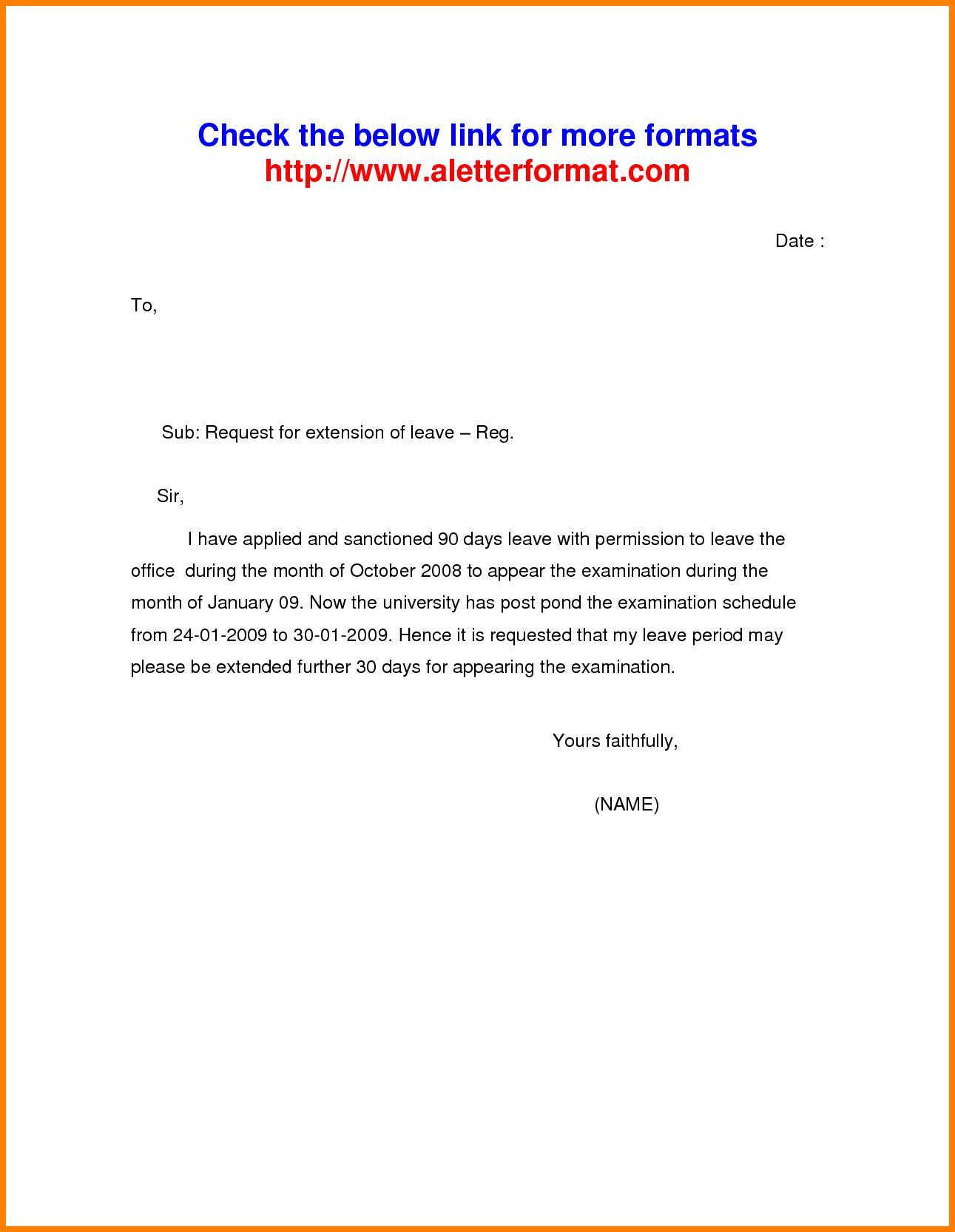 letter for maternity leave sample