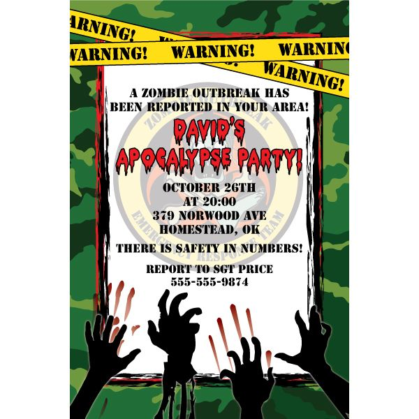 78+ images about Zombie Survival Party on Pinterest | Zombies ...