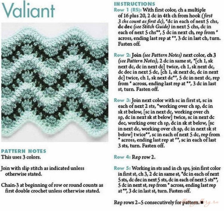 Free chevron crochet pattern   EN ZIG ZAG VAMOS CON EL CROCHET ...