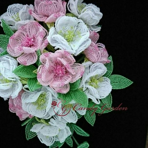 Pin by Arishka on Цветы   Pinterest   Beads, Wire crafts and Bead art