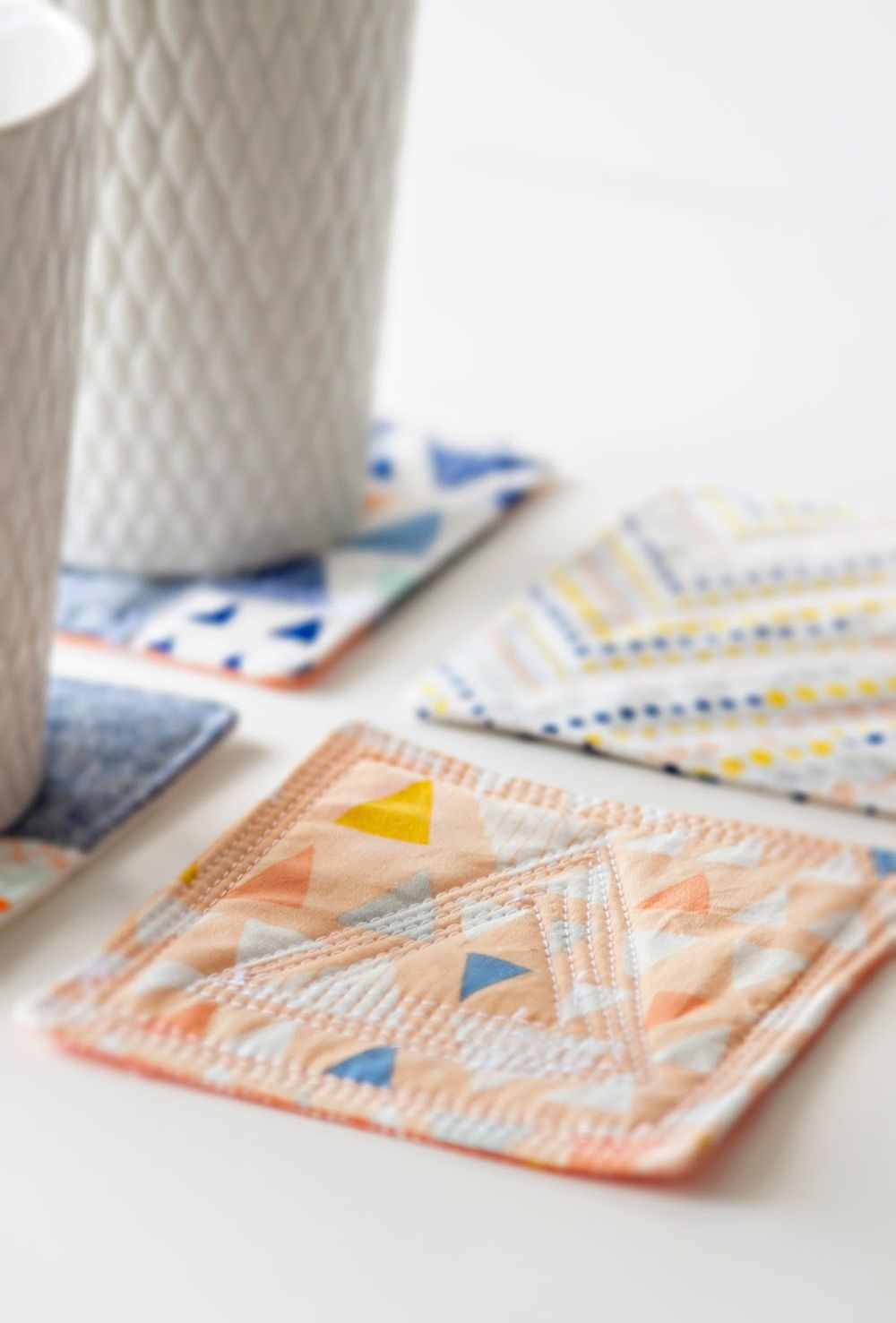 crafty ideas modern coasters. Modern quilted coasters  SEWING Coasters Quilted and Tutorials