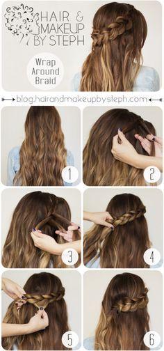 Wrap Around Braid Part 1 Hair Styles Stylish Hair Wedding Hairstyles