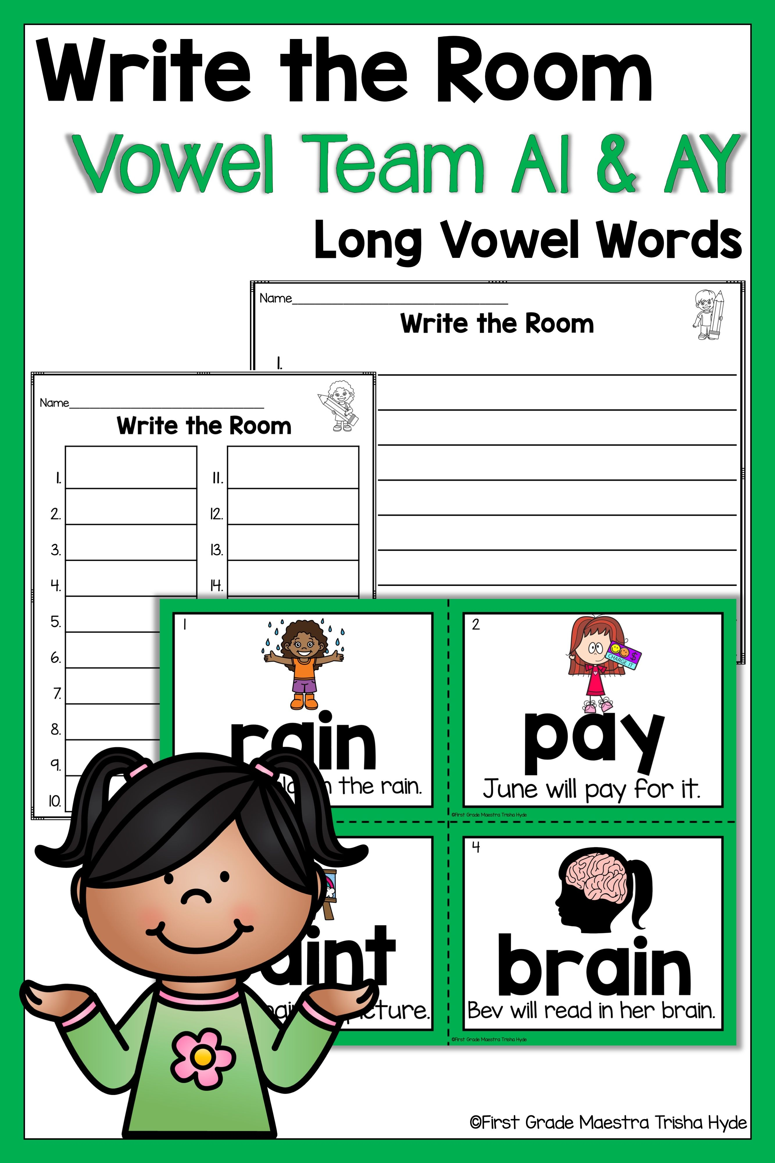 Write The Room Vowel Team Ai And Ay