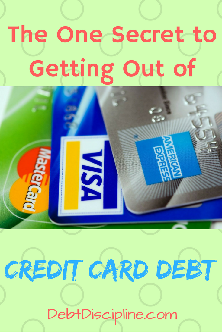 The One Secret to Getting Out of Credit Card Debt - Debt Discipline ...