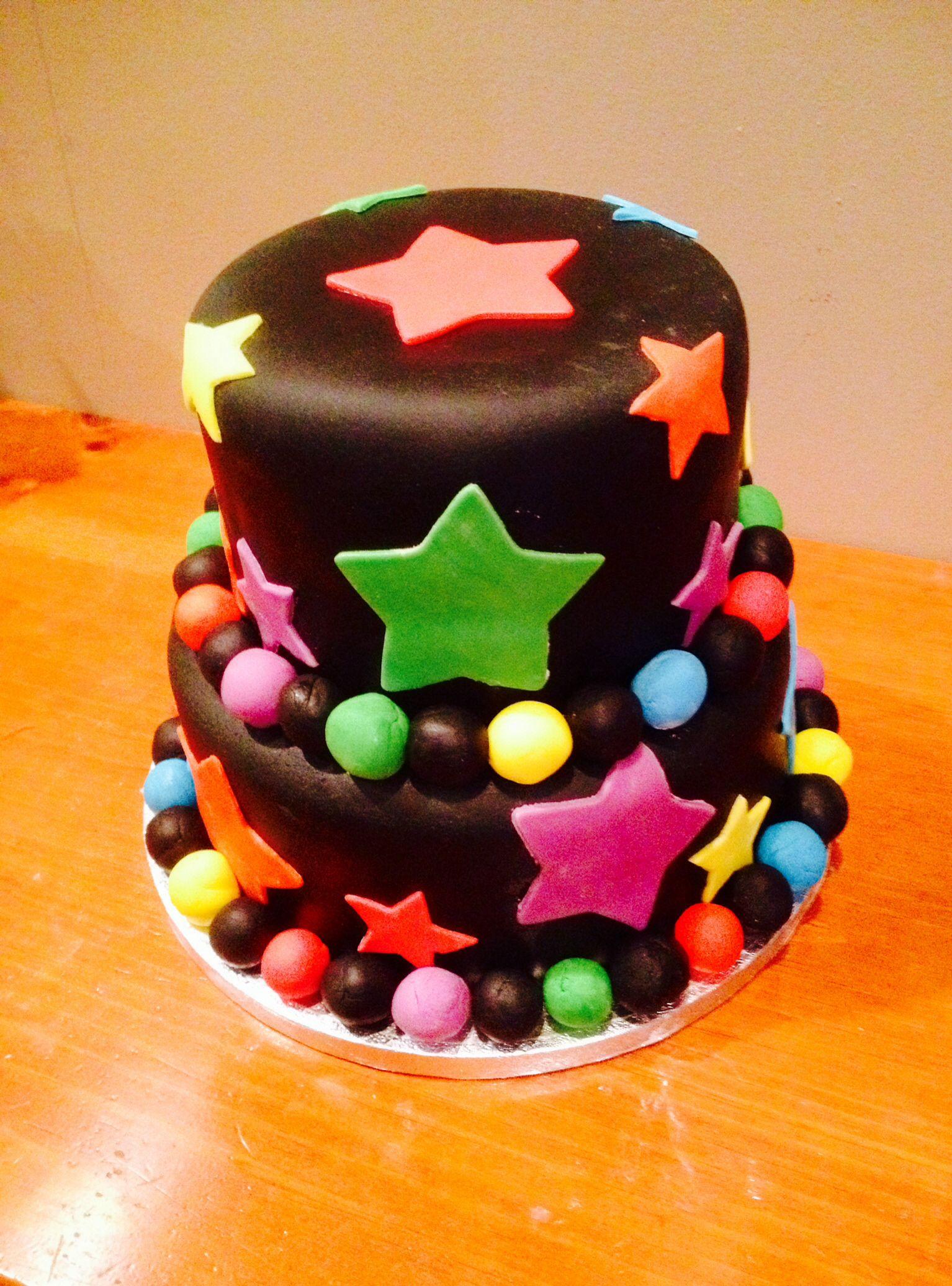 Neon cake My cakescupcakescookies Pinterest Neon cakes Cake