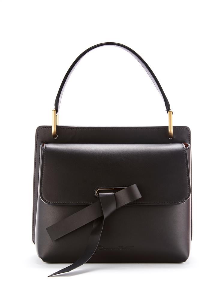 Black Leather Caveat Bag Handbags Oscar De La Renta Black Oscar De La Renta Popular Handbags Handbag Outfit Bags