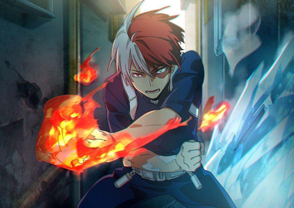 Shouto Todoroki Boku No Hero Academia Anime Boy Fight Wallpaper My Hero Academia Shouto My Hero Anime Boy