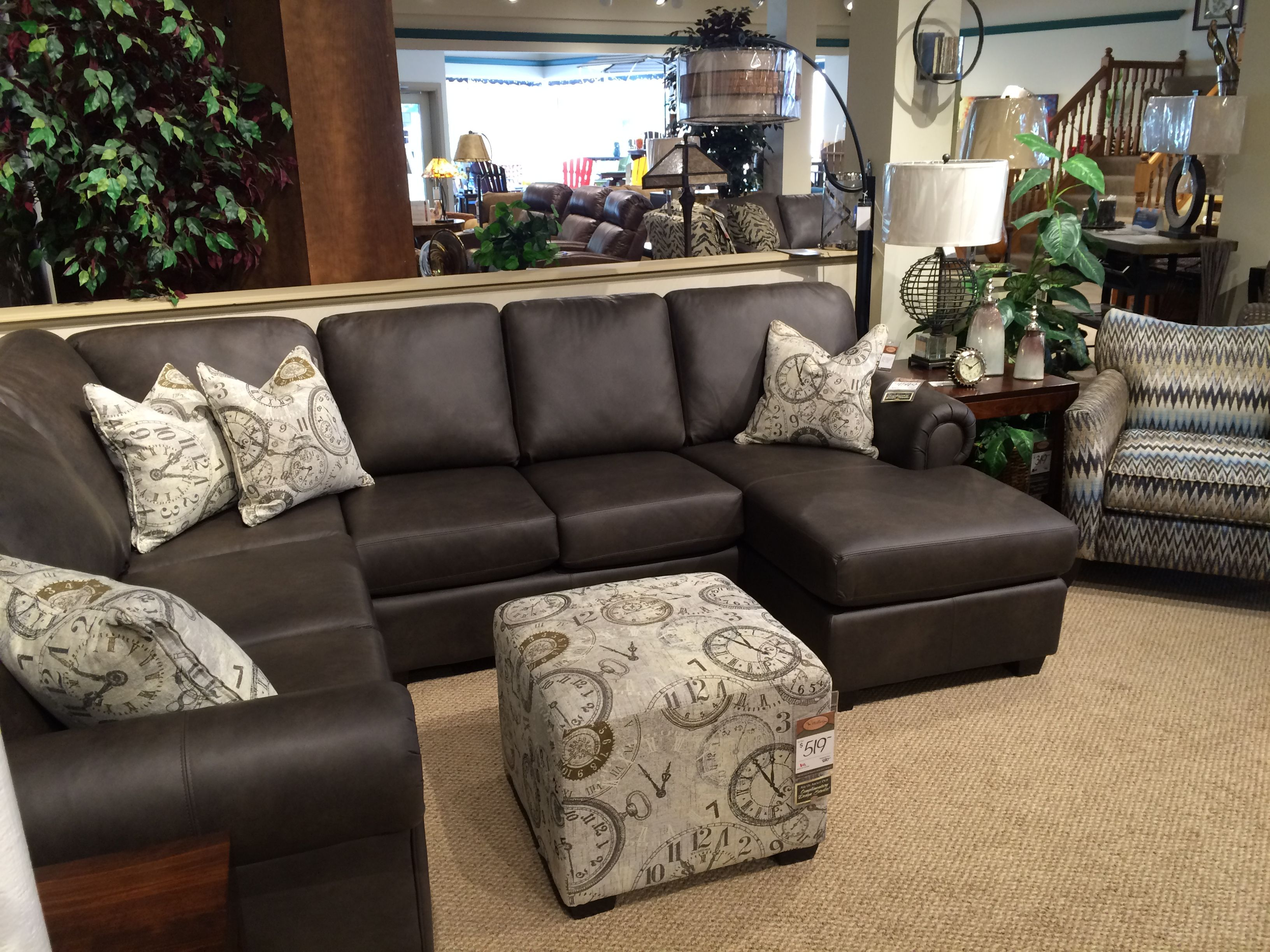 Best Great Modern Rustic Leather Sectional From Décor Rest 640 x 480