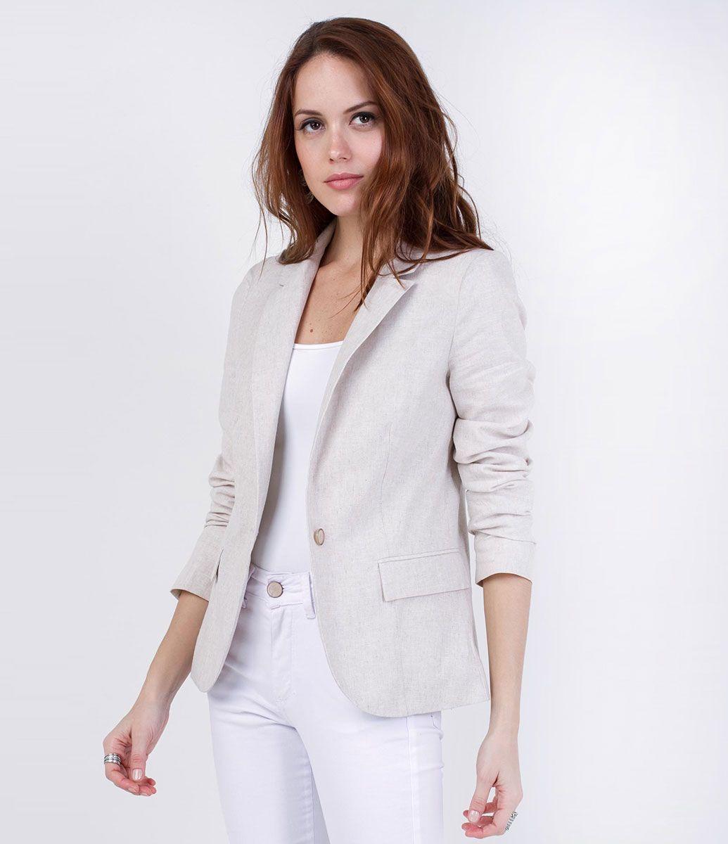 36a82e783b Blazer feminino Blazer De Linho