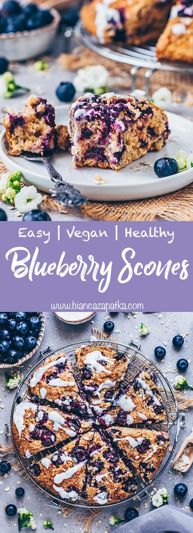 Vegan Blueberry Scones | Easy & Healthy - Bianca Zapatka | Recipes