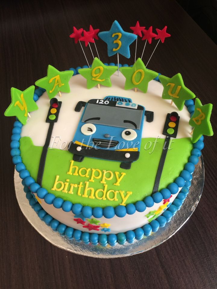 Tayo The Little Bus For The Love Of It Bus Cake Tayo
