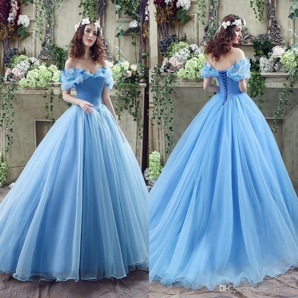 sky blue wedding dresses for sale