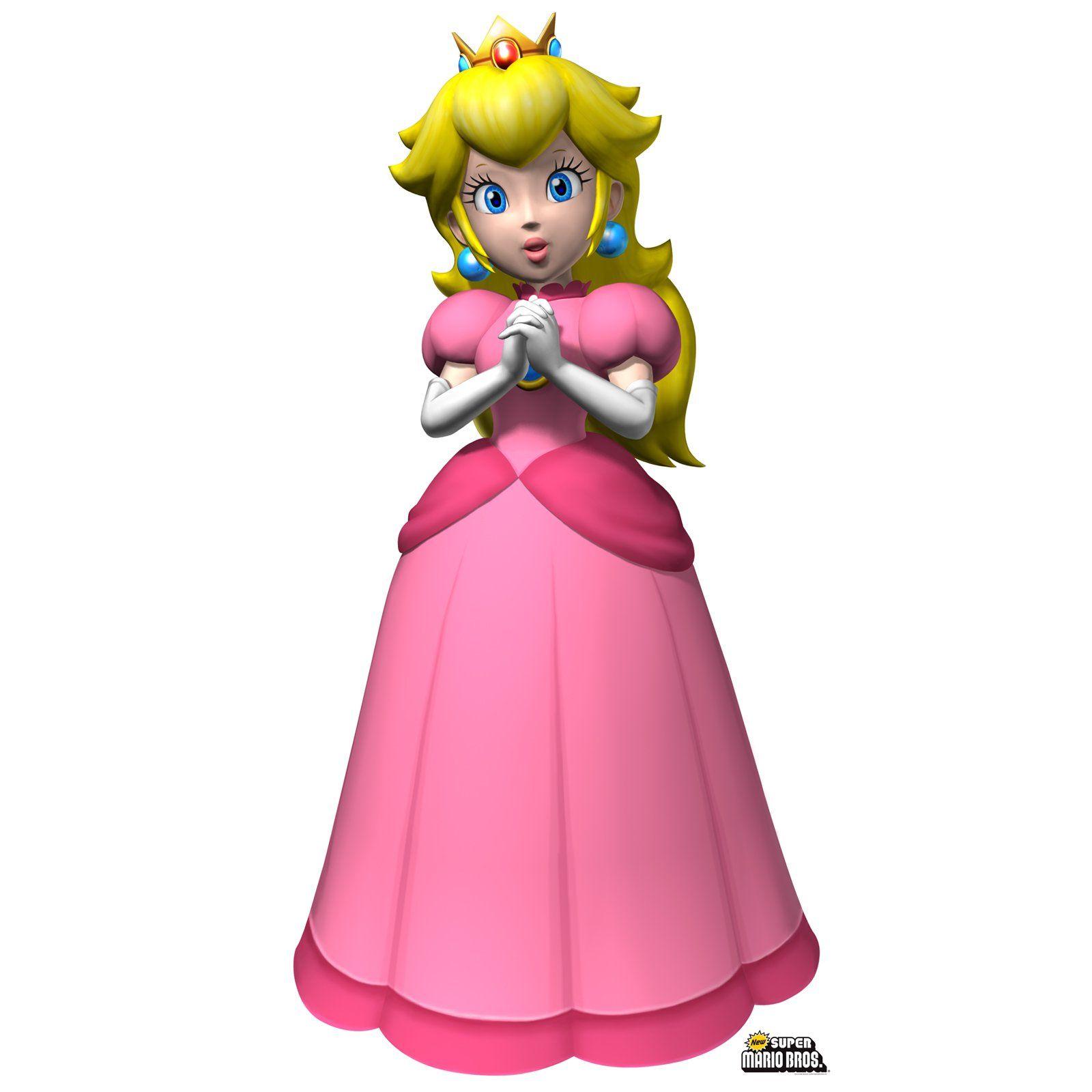 Super Mario Bros Princess Peach Standup  5 Tall  Princess