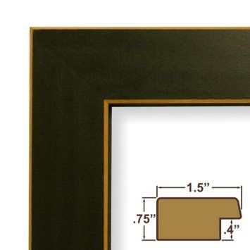 11x22 Custom Picture Frame Poster Frame 1 5 Wide Complete Green Wood Frame 276gr This Frame Is Manufactured In The Usa Using Rahmen Und Gerahmte Bilder