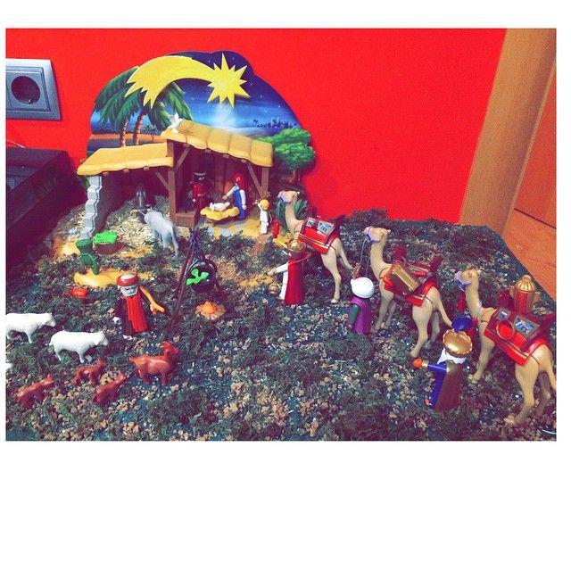 El Belén ya llegó!!! #playmobil#belen#chritsmas#navidad#portal#
