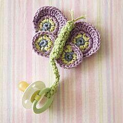 Luty Artes Crochet: Pegadores de chupeta de crochê