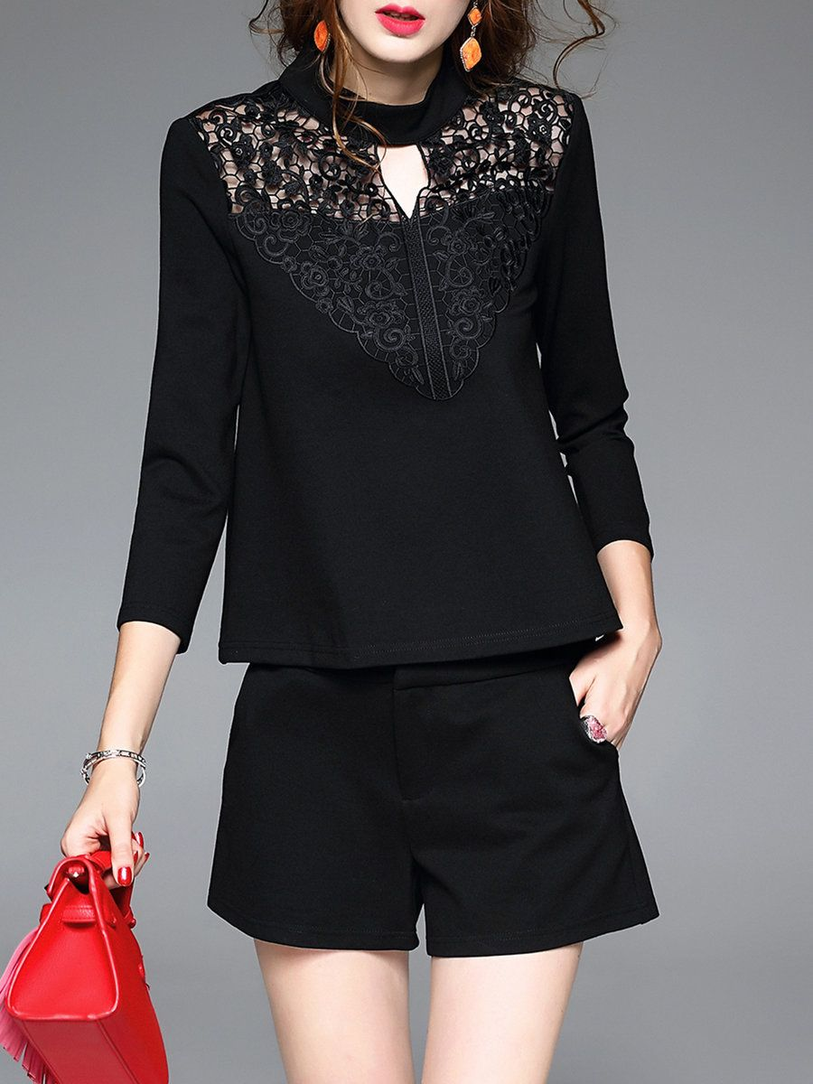 Adorewe stylewe dder two piece casual knitted long sleeve floral