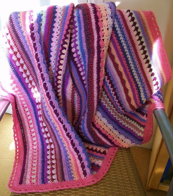 Cuppa Crochet: Stripe Along Blanket (Spice of Life CAL) | Crochet ...