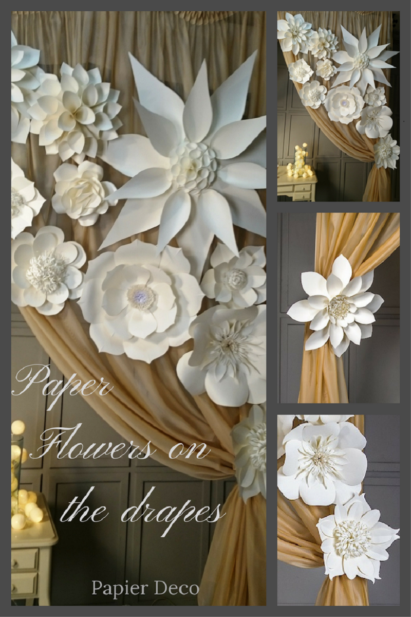 Paper flowers backdrop is indispensable attribute for wedding baby