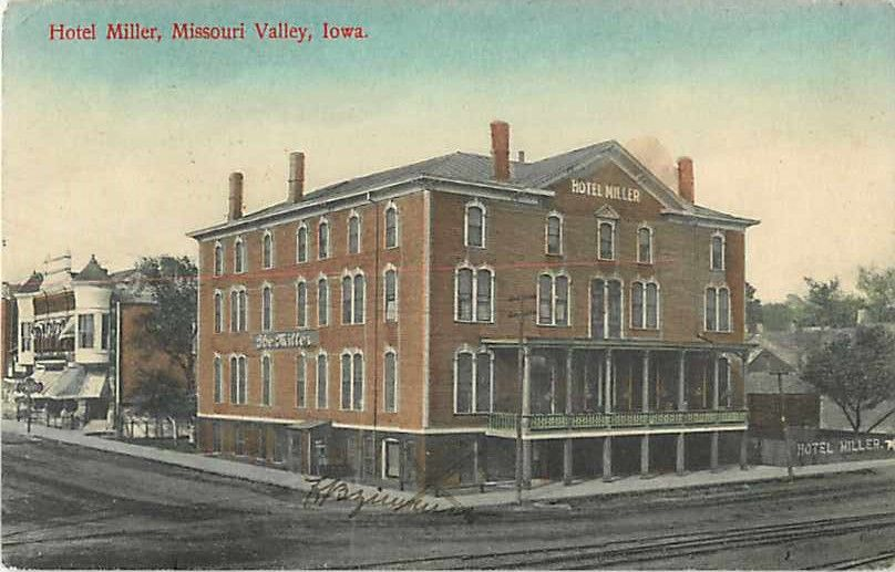 Hotel Miller Missouri Valley Iowa Ia 1909 Divided Back