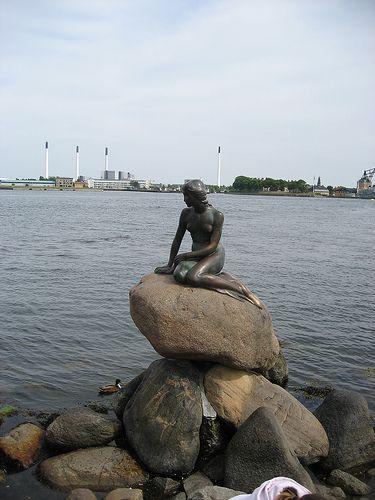 Copenhagen, Denmark. The statue for the inspiration for the The Little Mermaid.