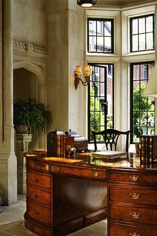 Estilo ingl s escritorio cl sico en caoba wadia for Decoracion estilo clasico