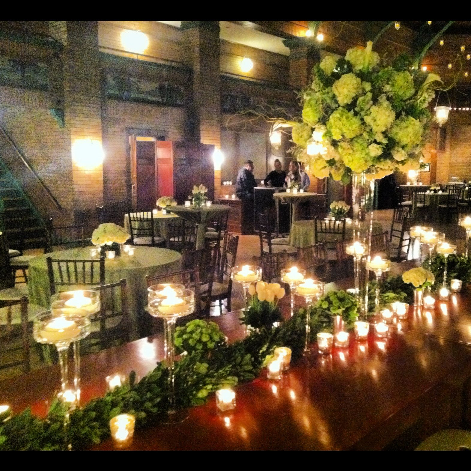 Wedding at Cafe Brauer by Liven It Up Events. Table