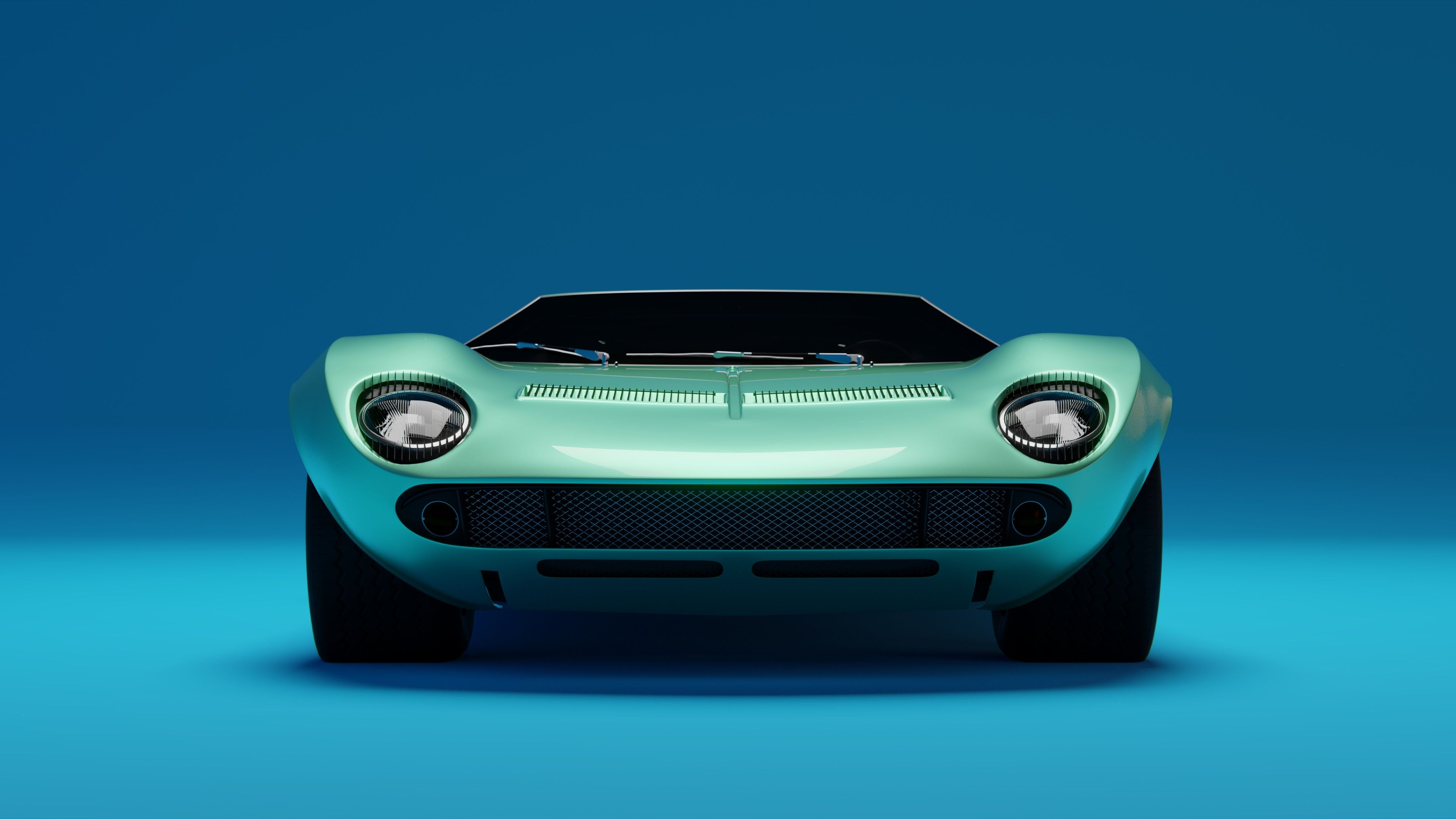 Lamborghini Miura Front 4k Wallpaper Lamborghini