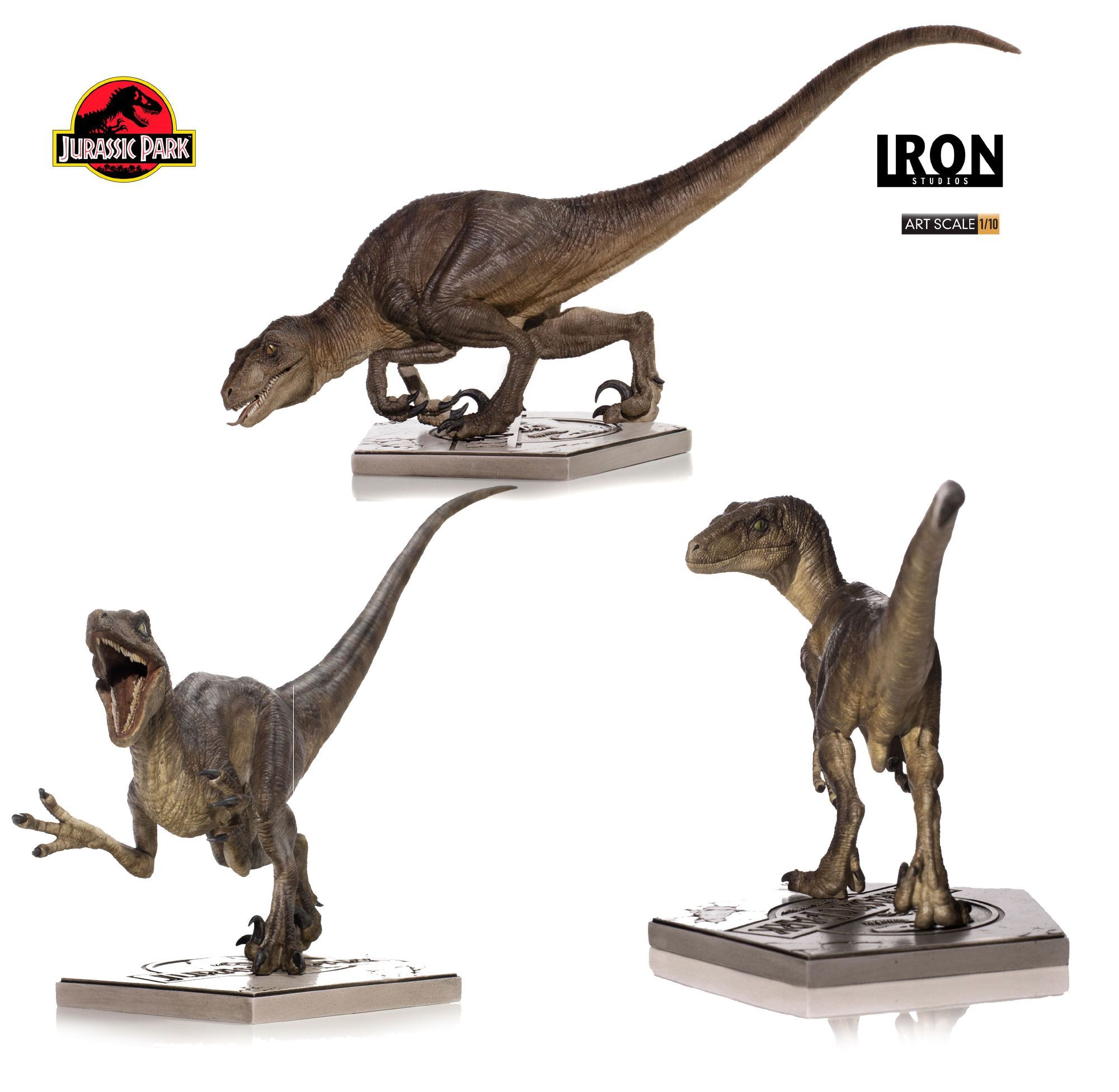 Jurassic Park Art Scale Statue 1/10 Velociraptor Attack 31