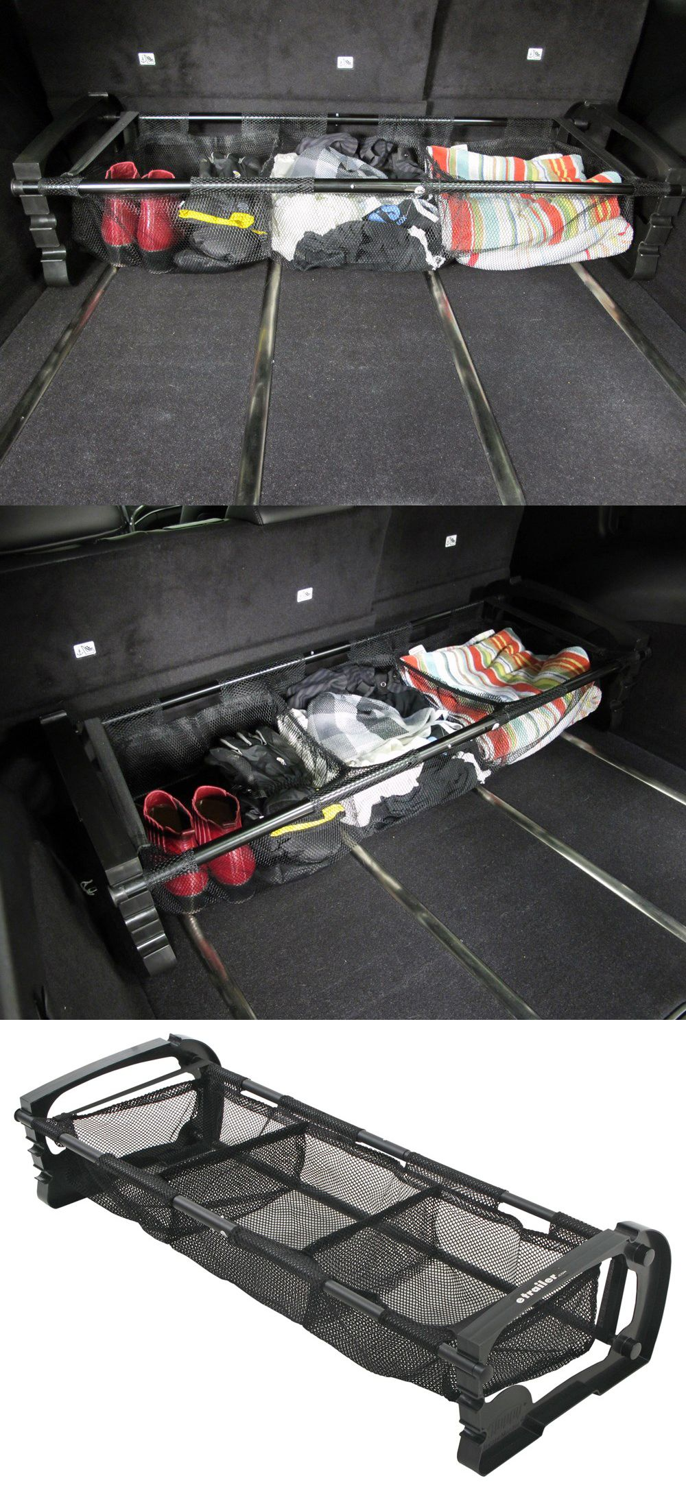 Hopkins collapsible vehicle trunk cargo organizer with mesh bins versatile cargo holder that can be adjusted to fit your trunk and is compatible with the subaru outback wagon car organization is a must while traveling solutioingenieria Choice Image
