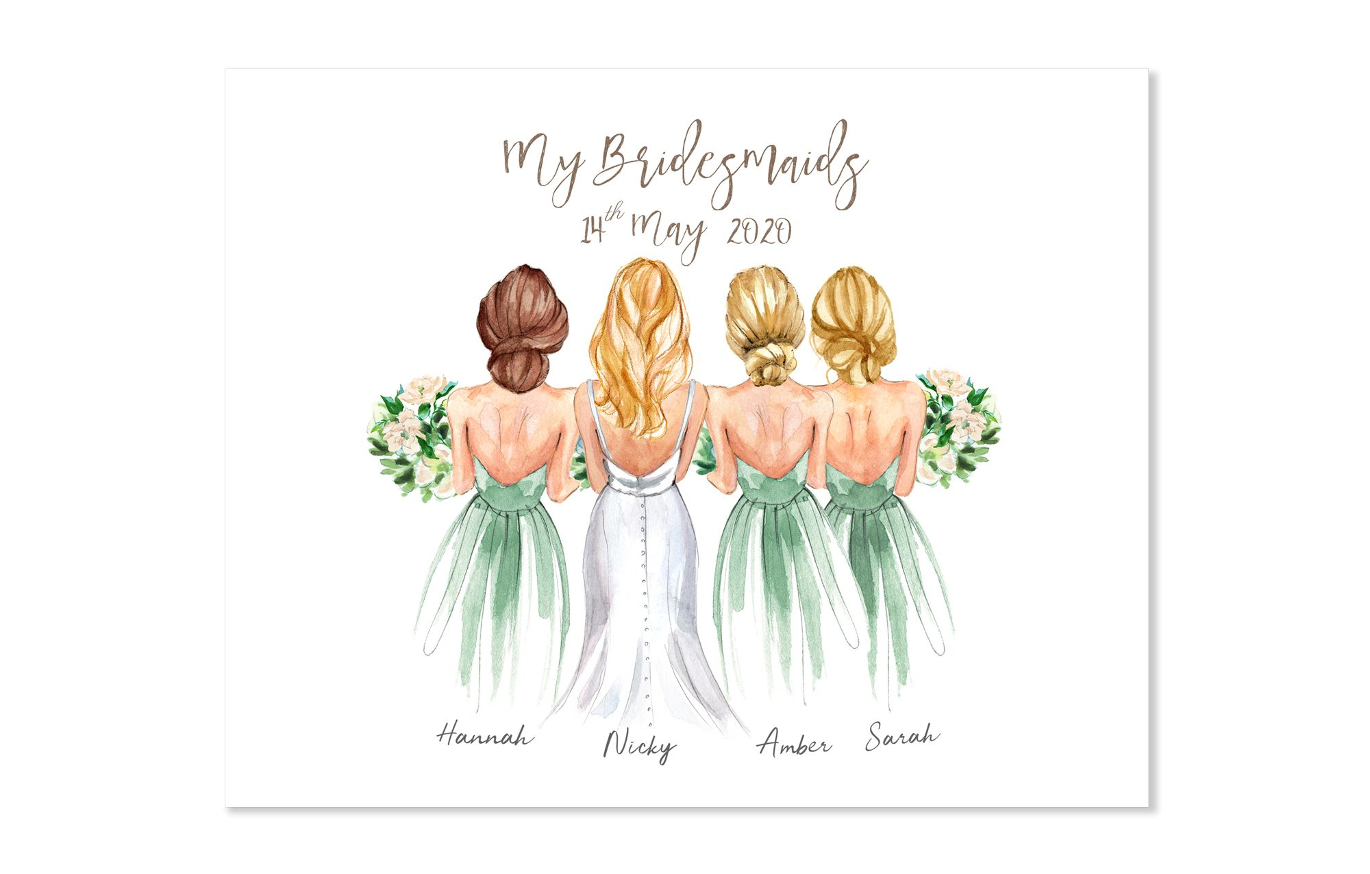 Customized Bridesmaids Gift Gifts For Bridesmaids Bridesmaid Gift Ideas Bride Gifts Gifts For Bride Wedding Favour Bridesmaids Print In 2020 Graduation Gifts For Best Friend Graduation Gifts For Friends Customized Bridesmaid Gifts