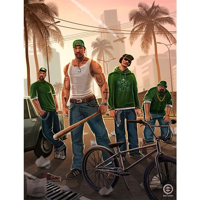 #SanAndreas #FanArt By Emil Goska On @deviantART Throwing