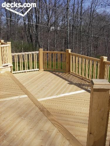 Uneven deck railing