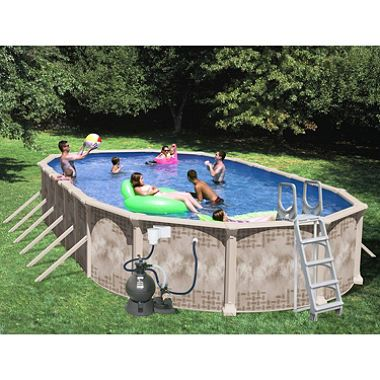 Nautilus 33 X 18 X 52 Oval Deluxe Pool Package Sam S Club Pool In Ground Pools Above Ground Swimming Pools